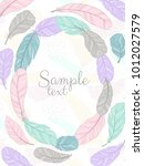 vector poster with decorative... | Shutterstock .eps vector #1012027579