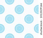 seamless ethnic pattern with... | Shutterstock .eps vector #1012029166