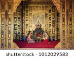 thai warrior in traditional at...   Shutterstock . vector #1012029583
