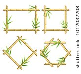 realistic 3d detailed bamboo... | Shutterstock .eps vector #1012032208