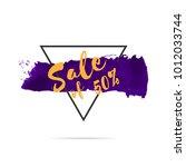 sale banner template design for ... | Shutterstock .eps vector #1012033744