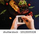 culinary recipe of stuffed... | Shutterstock . vector #1012035328