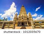 chedi buddhakaya  a religious... | Shutterstock . vector #1012035670