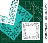 openwork for cutting knife ... | Shutterstock .eps vector #1012036390