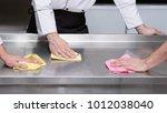 clean kitchen   healthy... | Shutterstock . vector #1012038040