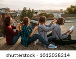 bff support friendship care.... | Shutterstock . vector #1012038214
