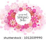 spring season sale offer ... | Shutterstock .eps vector #1012039990