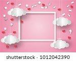 valentine's day concept. white...   Shutterstock .eps vector #1012042390