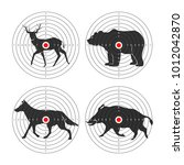 hunting animal targets vector... | Shutterstock .eps vector #1012042870