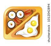 lunch box  meals  healthy diet... | Shutterstock .eps vector #1012042894