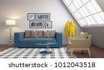 interior living room. 3d... | Shutterstock . vector #1012043518