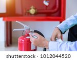 engineer inspection fire... | Shutterstock . vector #1012044520