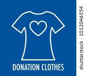 heart on t shirt line icon.... | Shutterstock .eps vector #1012046554