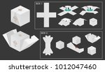 package box die cut with 3d... | Shutterstock .eps vector #1012047460