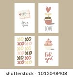 valentine's day card | Shutterstock .eps vector #1012048408