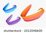 acrylic paint brush stroke....   Shutterstock .eps vector #1012048600