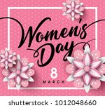 8 march  international happy... | Shutterstock .eps vector #1012048660