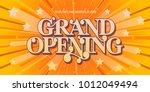 grand opening vector background.... | Shutterstock .eps vector #1012049494