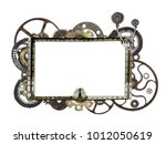 metallic frame with vintage... | Shutterstock . vector #1012050619
