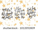 and so the adventure begins. i... | Shutterstock .eps vector #1012052839