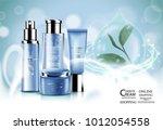luxury cosmetic bottle package... | Shutterstock .eps vector #1012054558