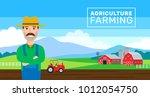 agroiculture farming banner...   Shutterstock .eps vector #1012054750