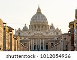 detail of the st peter's... | Shutterstock . vector #1012054936