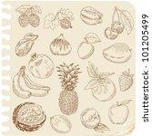 Set Of Doodle Fruits   For...
