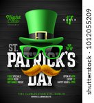 saint patrick's day  feast of... | Shutterstock .eps vector #1012055209