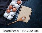 blank vintage recipe cooking... | Shutterstock . vector #1012055788