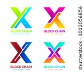 letter x logos colorful shape... | Shutterstock .eps vector #1012056856