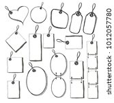 collection of sketched tags and ... | Shutterstock .eps vector #1012057780