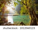 beautiful natural pools in... | Shutterstock . vector #1012060123