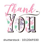 thank you card | Shutterstock .eps vector #1012069330