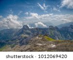 landscape of the alpstein and... | Shutterstock . vector #1012069420