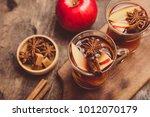 hot spicy beverage. hot drink ... | Shutterstock . vector #1012070179