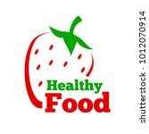 logo healthy food. vector... | Shutterstock .eps vector #1012070914