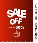 sale banner vector template.... | Shutterstock .eps vector #1012071598