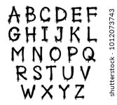 font spray graffiti. the... | Shutterstock .eps vector #1012073743