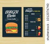 burger menu template   Shutterstock .eps vector #1012076740