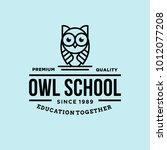 owl   vector logo icon... | Shutterstock .eps vector #1012077208