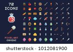 pixel art vector game design... | Shutterstock .eps vector #1012081900