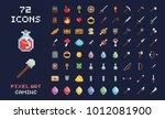 pixel art vector game design... | Shutterstock .eps vector #1012081900