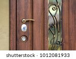 Brown Entrance Door With Gold...