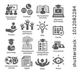 business management icons pack... | Shutterstock .eps vector #1012082284