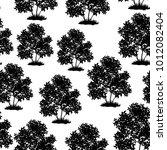 seamless pattern  lilac bush... | Shutterstock .eps vector #1012082404