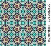 cotton or silk headscarf ... | Shutterstock .eps vector #1012082620