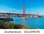 the golden gate bridge in san...   Shutterstock . vector #101209078