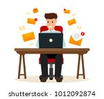 business character sitting the... | Shutterstock .eps vector #1012092874
