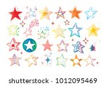 collection of colored doodle... | Shutterstock .eps vector #1012095469